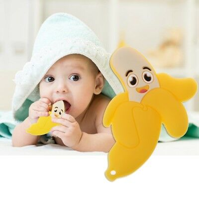 Lovely Banana Silicone Teether Chewable Teething Toys For Infants Baby Toddlers