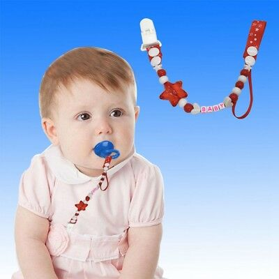 Toddler Baby Hand Made Dummy Pacifier Clip Chain Holder Soother Nipple Strap u