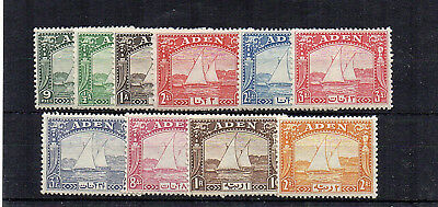 Aden - 1937 values to 2r MLH/MH