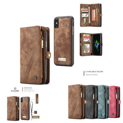 For iPhone 7 8 6/7/8 Plus Removable Magnetic Flip Card Case Cover Wallet