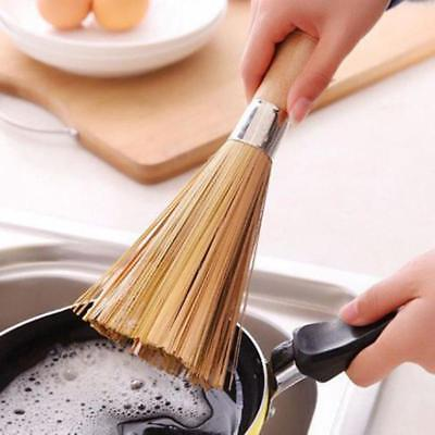 Bamboo Wok Brushes Cleaning  Traditional Kitchen Tools LG