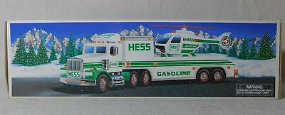 New 1995 Hess TRUCK and HELICOPTER lights moving rotors-NIB!