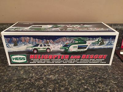 HESS 2012 TOY HELICOPTER AND RESCUE-NIB is Hess Bag!