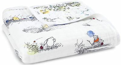 Aden + Anais DISNEY BABY DREAM BLANKET WINNIE THE POOH 100% Cotton Muslin