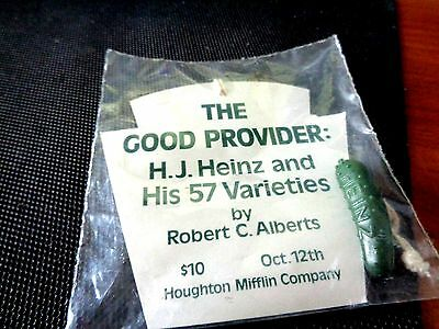 H J Heinz Pickle Pin Great Collectible - New Condition!! Houghton Mifflin Co.