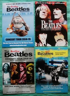 The Bootleg Beatles & Orchestra A5 Tour Flyers X 4 Assorted Flyers 2006-2015