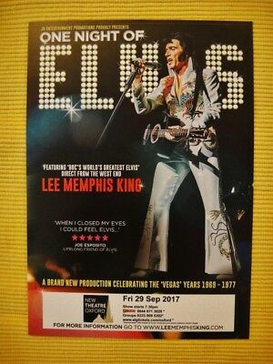 ELVIS tribute - in ONE NIGHT OF ELVIS - A5 FLYER - 2017 NEW OXFORD THEATRE