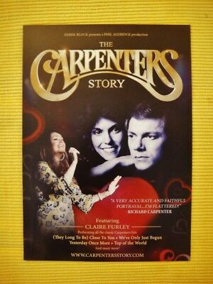 THE CARPENTERS STORY - FEAT Claire Furley -A5 FLYER - 2017 tour dates