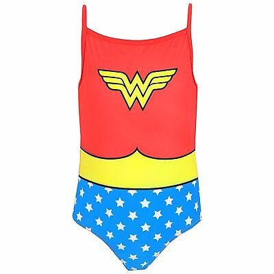 Wonder Woman Swimsuit | Girls DC Comics Wonder Woman Swimming Costume | NEW