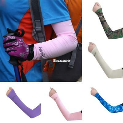 Sun Protection UV Outdoor Sport Hiking Cycling Arm Sleeve Cover Cuff ETDS
