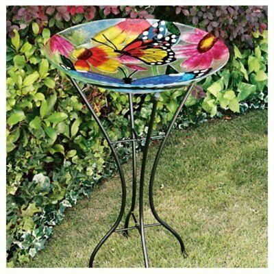 """26.5"""" Butterfly Bird Bath and Stand"""