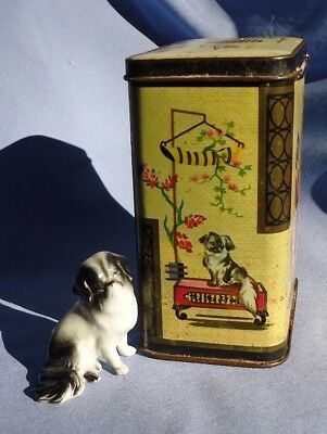JAPANESE CHIN tea tin figurine Germany England