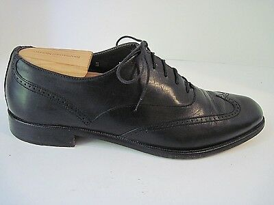 VITO RUFOLO Black Leather Wing Tip Oxfords Mens Size 9 M Italy