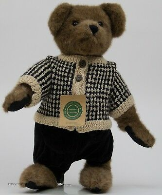 """Boyds Bear Investment Collection 16"""" in Rutherford Jointed Plush Bear NWT"""