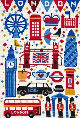 DMC Preprinted Canvas Tapestry - London Attractions C20N97