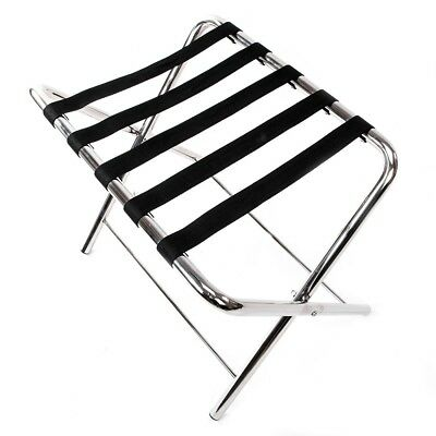 60*42*50cm Portable Stainless Steel Baggage Rack Suitcase Stand Bag Holder Strip
