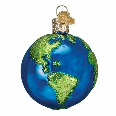 Old World Christmas Planet Earth Glass Tree Ornament 22038 FREE BOX Space New