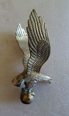 Antique Vintage Brass Eagle on Ball Clock Fence Post Flag Pole ??? Topper Finial