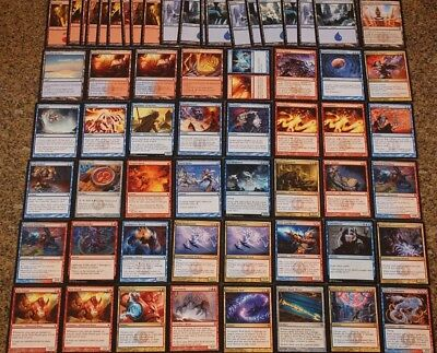 MTG BLUE RED Izzet Control Deck Niv-Mizzet, Parun Guilds of