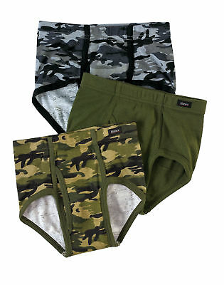 Boys' Hanes Ultimate Brief 3-Pack Underwear ComfortSoft Waistband Assorted Camo