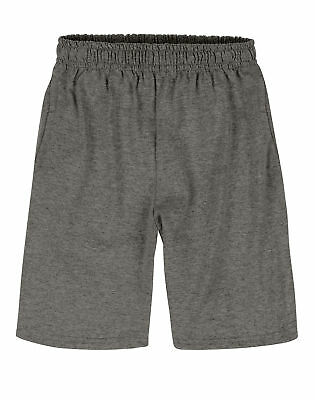 Hanes Boy's Shorts with Pockets Jersey knit cotton Elastic Waist XS-XL 5 Colors