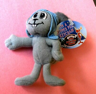 """Rocky from Rocky And Bullwinkle - 4"""" Plush Zipper Pull Key Chain with Tag"""