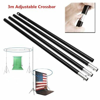 3m/10Ft Adjustable Photography Studio Backdrop Cloth Stand Crossbar Kit AS