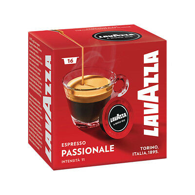 Lavazza A Modo Mio Espresso Passionale 512 Pods for Capsule Coffee Machine, Dark