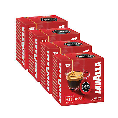 Lavazza A Modo Mio Espresso Passionale 64 Pods for Capsule Coffee Machine, Dark