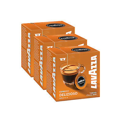 Lavazza A Modo Mio Espresso Delizioso 48 Pods for Capsule Coffee Machine, Medium