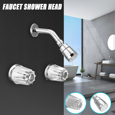 """Mobile Home//RV Shower Faucet 8/"""" Chrome Brass Under Body and Stems w Shower Head"""