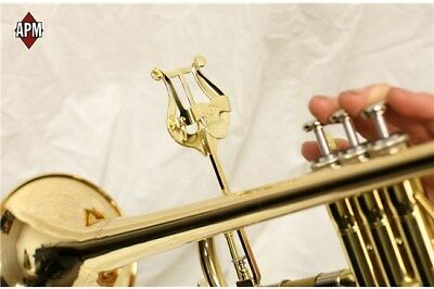 APM #501G Bent Stem Trumpet Lyre 501G Gold (Made In USA) - New & Sealed