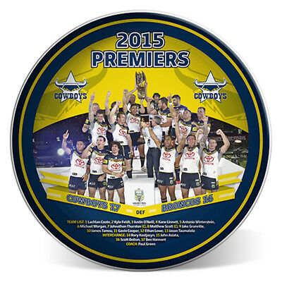 North Queensland Cowboys NRL Premiers 2015 Premiership Collectors Image Plate