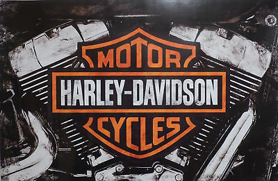 "Harley-Davidson Wall Poster Collectible Art ""Twin Cam"" #202 Hintz 24x36"