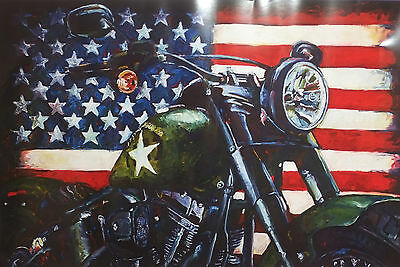 "Harley-Davidson Wall Poster Collectible Art ""American Muscle"" #401 Hintz"