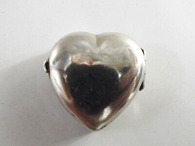 Antique Silver Pill Box In Heart Form Birmingham 1900 Ref 120/12