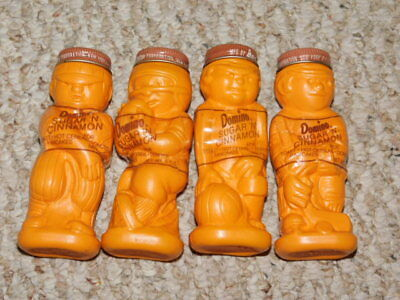 4 Vintage Domino Sugar N Cinnamon  Spice Shakers - All 4 Professional Sports