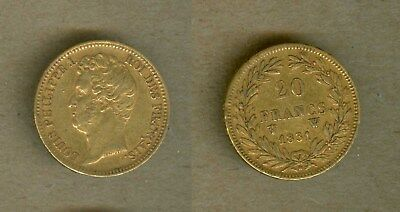 1831-W France Gold 20F 20 Francs Coin