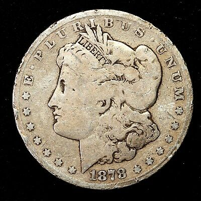 1878 P ~**1ST YEAR ISSUE**~ Silver Morgan Dollar Rare US Old Antique Coin! #K97