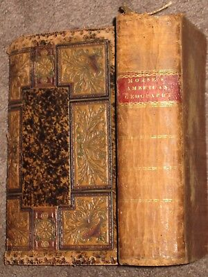 1812 UNIVERSALGEOGRAPHY Vol 1 JEDIDIAH MORSE 3 Maps Intact Custom Leather Cover