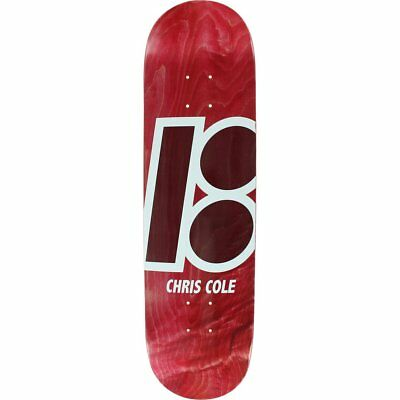 """Plan B Skateboard Deck Chris Cole Stained 8.3"""" FREE GRIP & POST"""