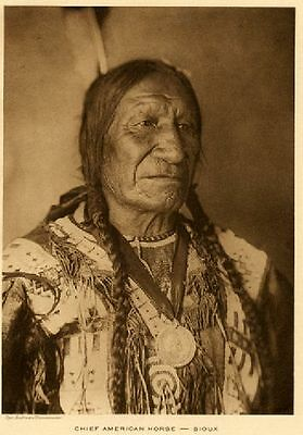 The Vanishing Race -  Chief American Horse - Oglala Lakota - Genuine