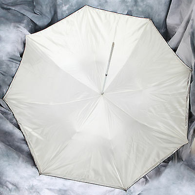 104cm Studio Umbrella Matt Silver with a Satin Over Cover