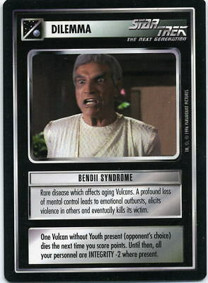 Star Trek CCG Q-Continuum, Bendii Syndrome. Mt/Nr-Mt.