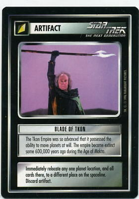 Star Trek CCG Q-Continuum, Blade of Tkon. Mt/Nr-Mt.