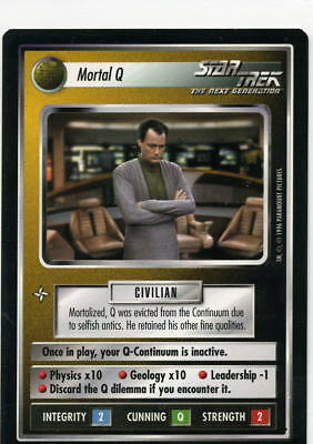 Star Trek CCG Q-Continuum, Mortal Q. Mt/Nr-Mt.