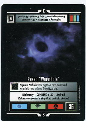 "Star Trek CCG Q-Continuum, Paxan ""Wormhole"". Mt/Nr-Mt."