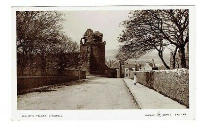 Old Postcard Bishop's Palace Kirkwall Orkney Scotland Reliable Series Real Photo