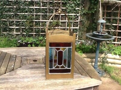 Victorian Stained Glass Lantern