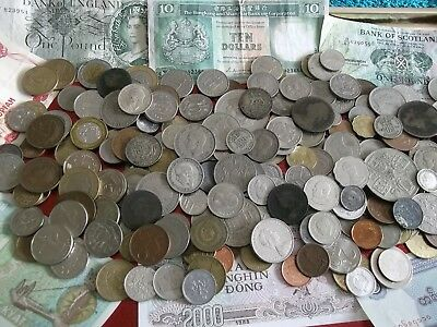 JOB LOT OF OLD COINS AND BANKNOTES 99p NUA59
